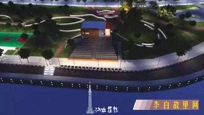江油三桥体育公园音乐喷泉广场效果